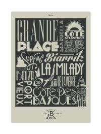 MB57045 Biarritz-Typographie